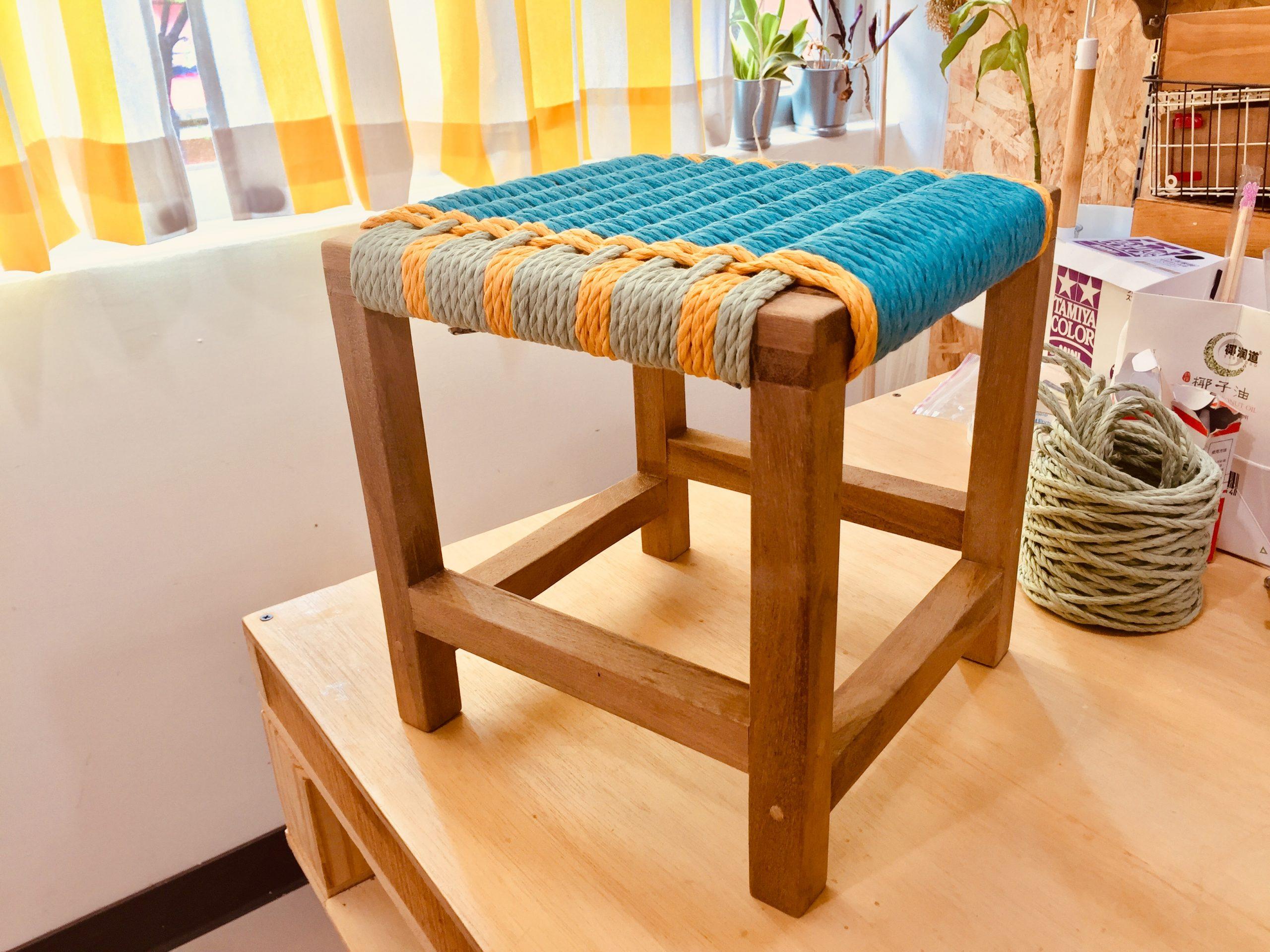 來一張傳家的板凳吧!親手自造編織椅凳!!