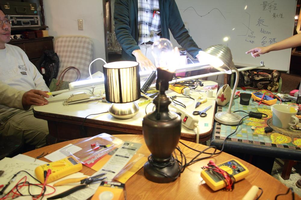 天阿是光!!! 壞燈燈修理課程紀錄